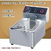 electric chip fryers Latest design, counter top electric 2 tank fryer(2 basket)
