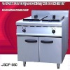 electric chips fryer, 2 tank fryer(2-basket) with cabinet