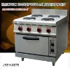 electric cooker, electric range with 4 burner and oven