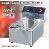 electric egg fryers Latest design, counter top electric 2 tank fryer(2 basket)