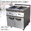 electric fryer, DFGF-785-2 2-tank fryer (2 basket)with cabinet