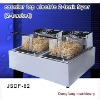 electric fryers commercial , counter top electric 2 tank fryer(2 basket)