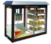 electric popcorn machine with showcase