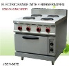 electric range with 4 burner and oven
