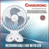 electric table fan rechargeable