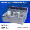 gas chips fryer 2011 new counter top electric 2-tank fryer(2-basket)
