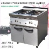 gas fryer with cabinet 2 tank fryer (2 basket)with cabinet
