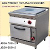 gas oven, DFGH-783A-2 gas french hot plate cooker with oven