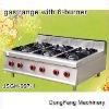 granite flaming machine JSGH-997-1 gas range with 6-burner ,kitchen equipment