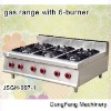 high pressure gas burner JSGH-997-1 gas range with 6-burner ,kitchen equipment