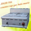 hot sale: counter top gas bain marie with stainless steel body