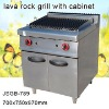 lava rock grill with cabinet