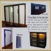 liquor cabinet glass door