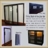 liquor cabinet glass door