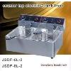 potato fryer machine 2011 new counter top electric 2-tank fryer(2-basket)