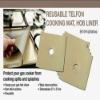 ptfe coated fiberglass fabric non-stick gas hob liner