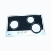 sell mirror effect gas stove glass with RoHS black ink printing