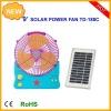 solar emergency fan with lamp  9inch rechargeable solar portable emergency fan