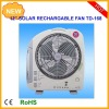 solar power fan/fan solar/12 table fan/12inch multifunction rechargeable solar fan with led light 6W solar panel and radio