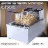 stainless deep fryer DF-81 counter top electric 1 tank fryer(1 basket)