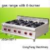 table top gas burner JSGH-997-1 gas range with 6-burner ,kitchen equipment