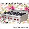 table top gas range, gas range with 6-burner