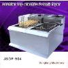 vacuum fryer New style counter top electric 2 tank fryer(2 basket)