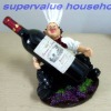 wine bottle holder with color painting