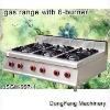 wok gas burner, gas range with 6-burner