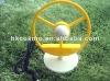 yellow mini usb transparent blades table fan